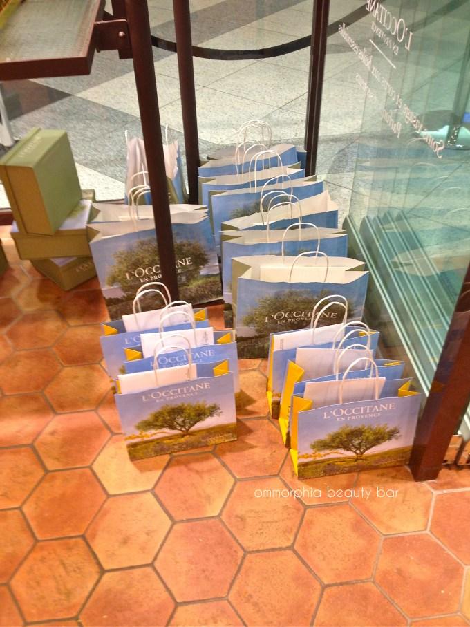 L'Occitane event gift bags
