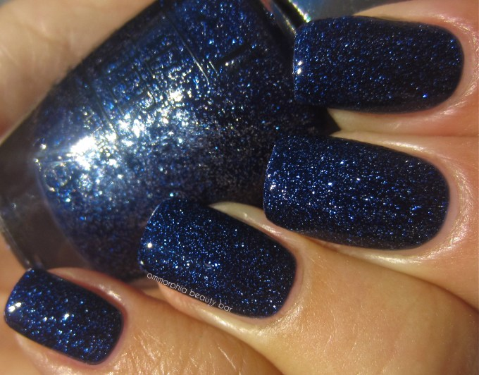 OPI DS Lapis swatch with top coat 2