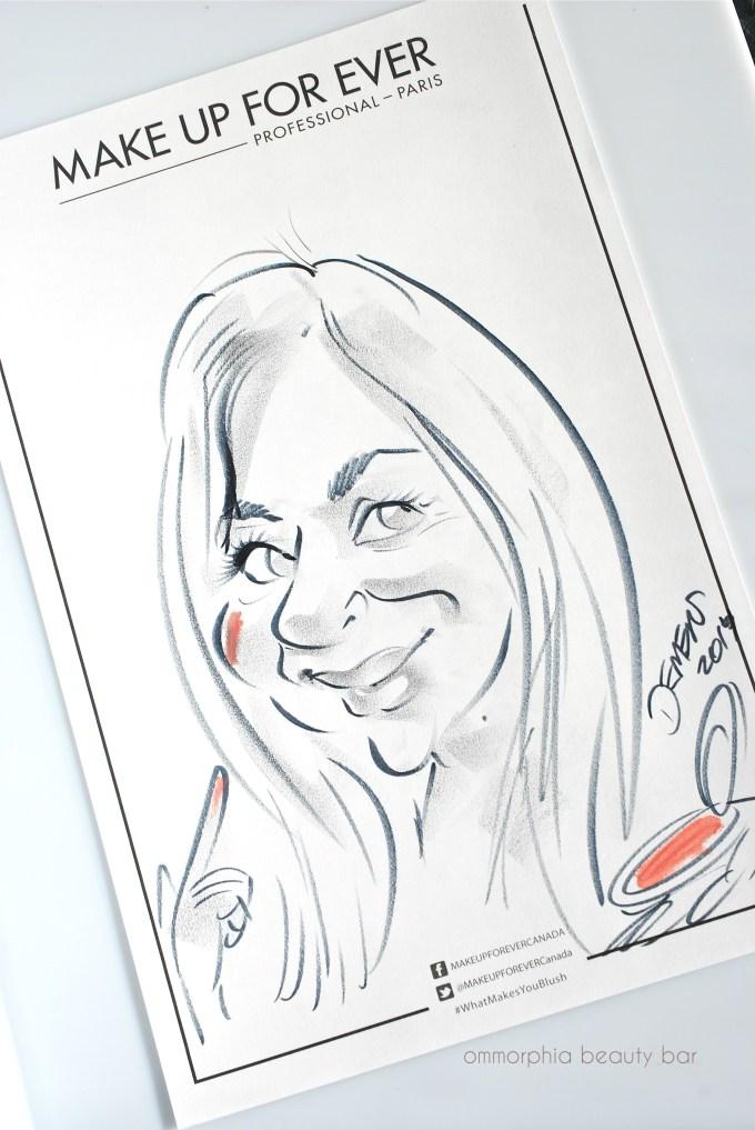 MUFE ommorphia Caricature