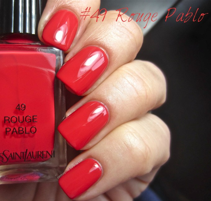 YSL Rouge Pablo swatch