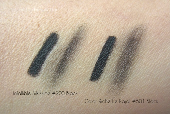 L'Oreal liners swatch 2
