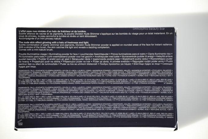 Diorskin Nude Shimmer 01 & 02 ingredients