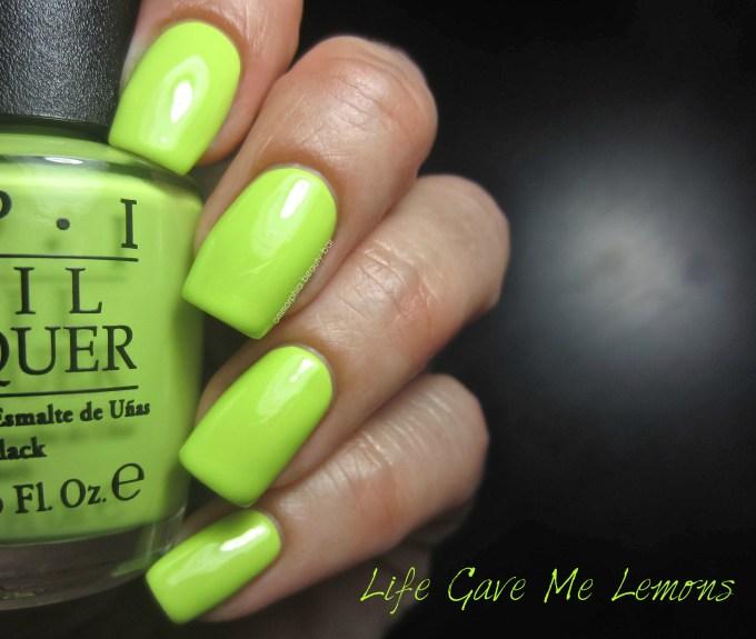 OPI Neons Life Gave Me Lemons swatch