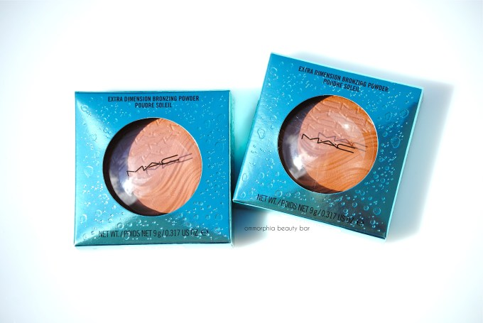 MAC Extra Dimension Bronzing Powders boxed