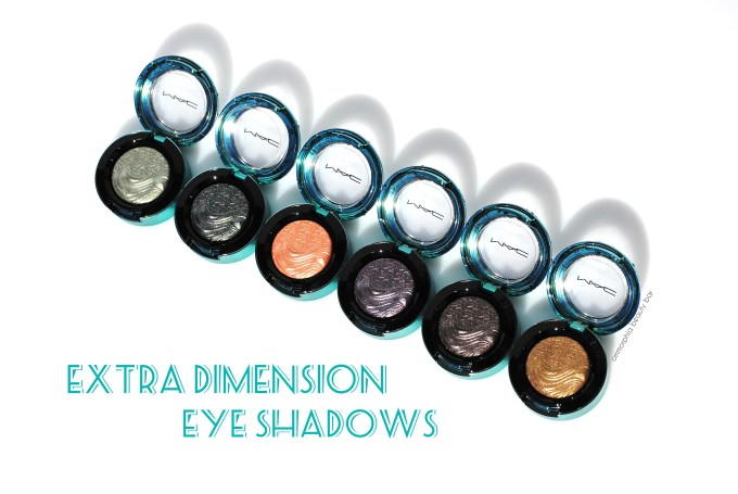 MAC Extra Dimension Eye Shadows opener