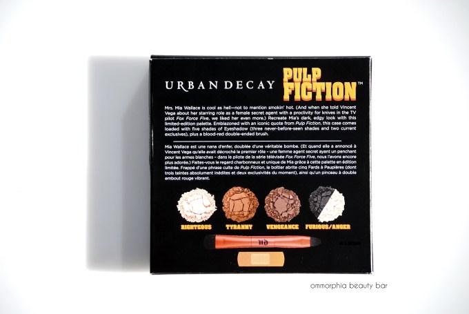 UD Pulp Fiction palette back of box