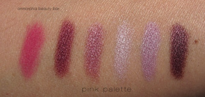 Shu Uemura Brave Beauty Pink palette swatches