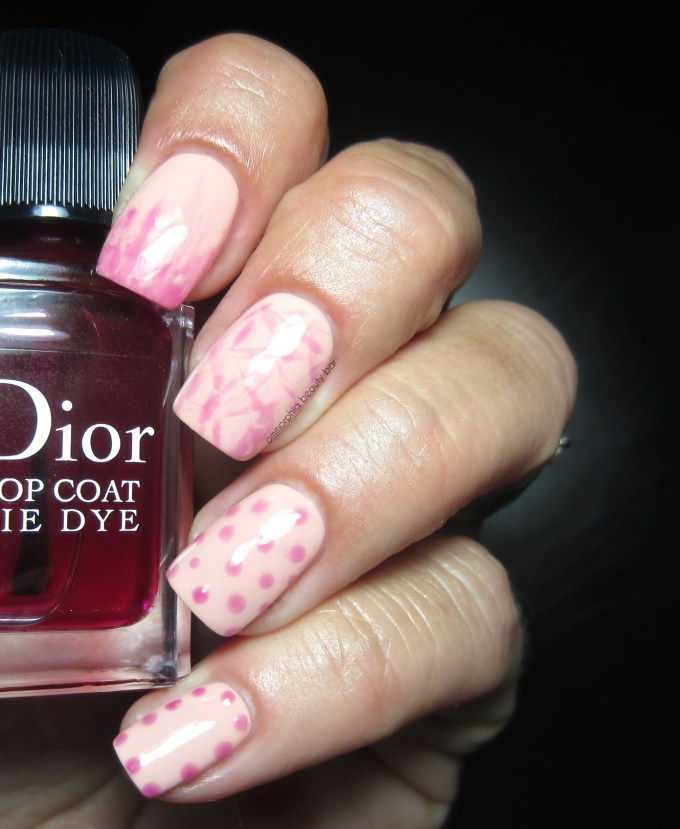Dior Sunkissed & Tie Dye Top Coat swatches