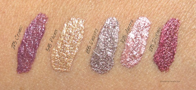 Dior Fluid Shadow swatches
