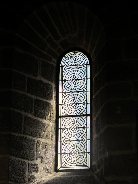 Aubazine Abbey stained glass
