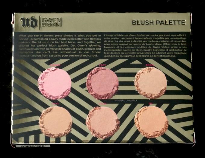 UD Gwen Stefani Blush Palette box back