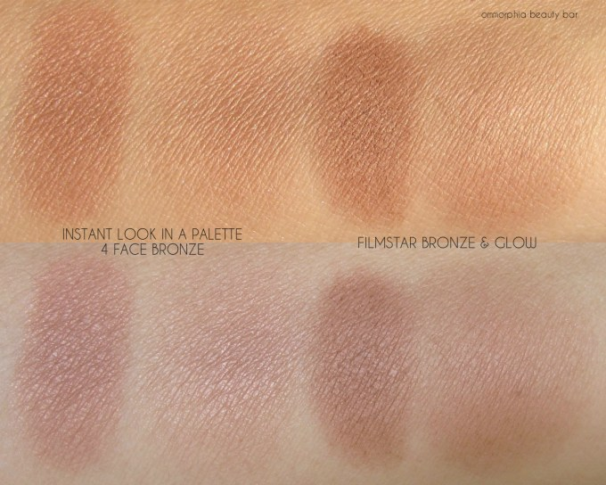 CT Instant Look In A Palette bronze vs Filmstar swatches