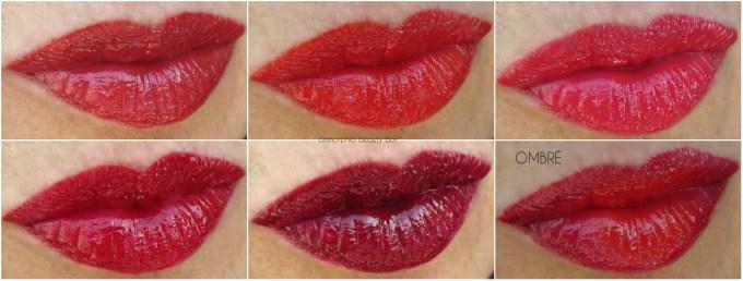 L'Oréal La Palette Lip Ruby swatch collage