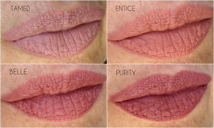 NUDESTIX Intense Matte nude lip swatches