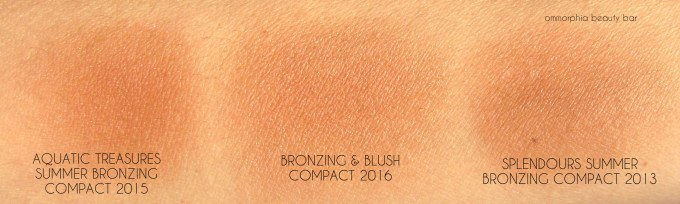 Clarins Summer 2016 Bronzing Compact & comp swatches