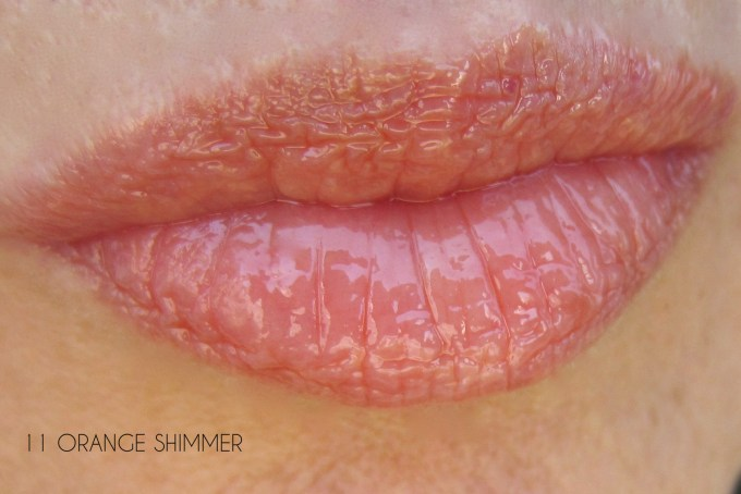 Clarins Summer 2016 Orange Shimmer swatch