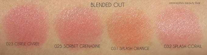 Lancome Cushion Blush swatches 2