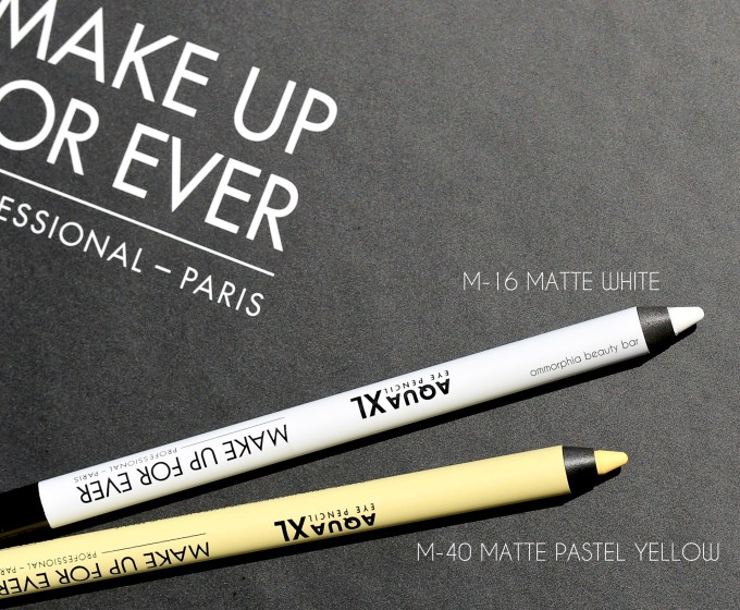 MUFE Aqua XL pencils white & yellow