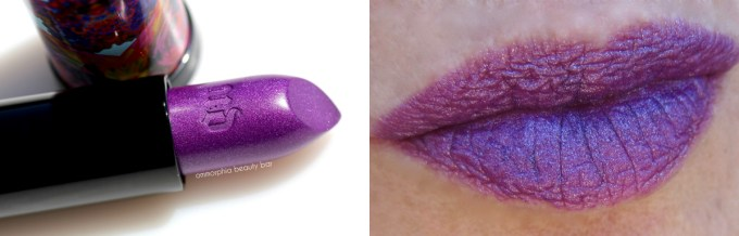 UD Alice Through The Looking Glass Mad Hatter lipstick swatch