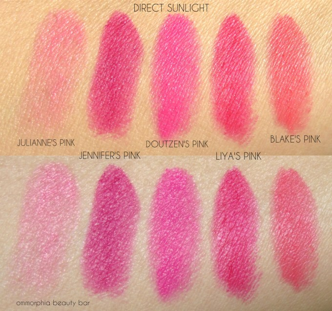 L'Oreal Collection Exclusive Pinks swatches