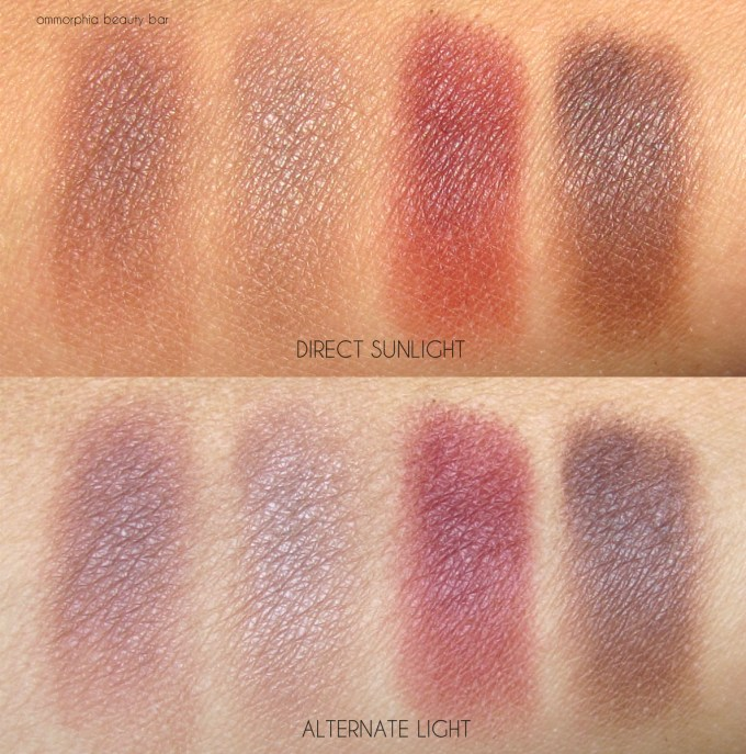 CHANEL Le Rouge eyeshadow palette swatches