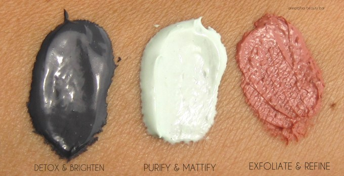 L'Oreal Pure-Clay Mask swatches