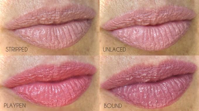 NARS Velvet Lip Glide nudes swatches