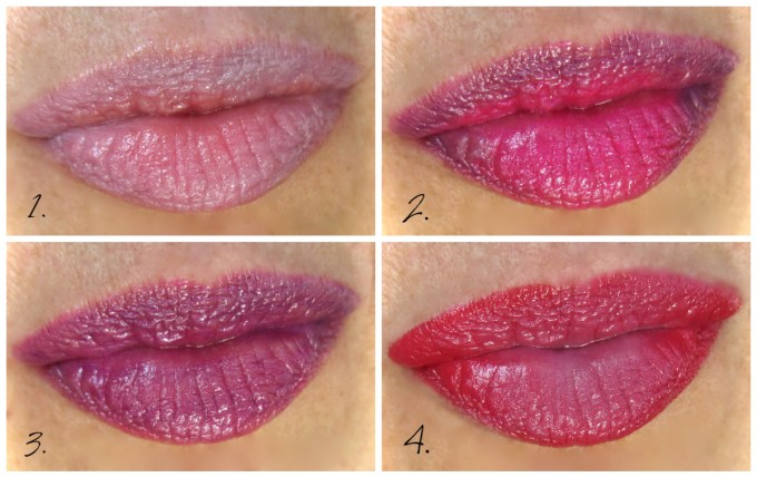 Dior Rouge Dior combination swatches
