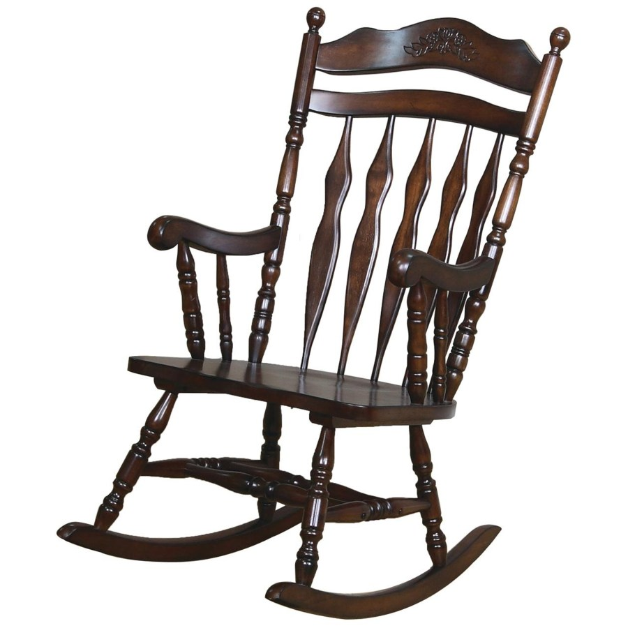 Wood Rocking Chair Rockers Traditional Country Wood Rocker