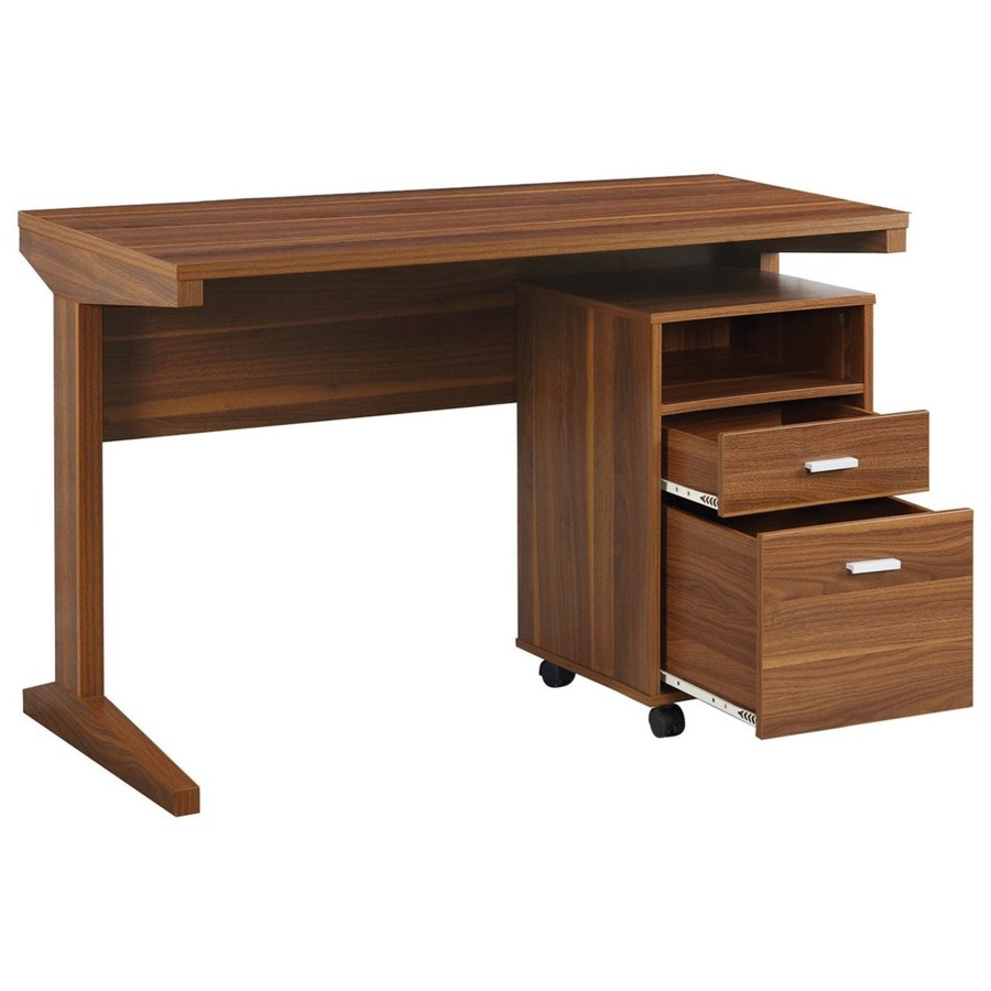 Desk With File Cabinet 2 Piece Desk Set With Rolling File Cabinet