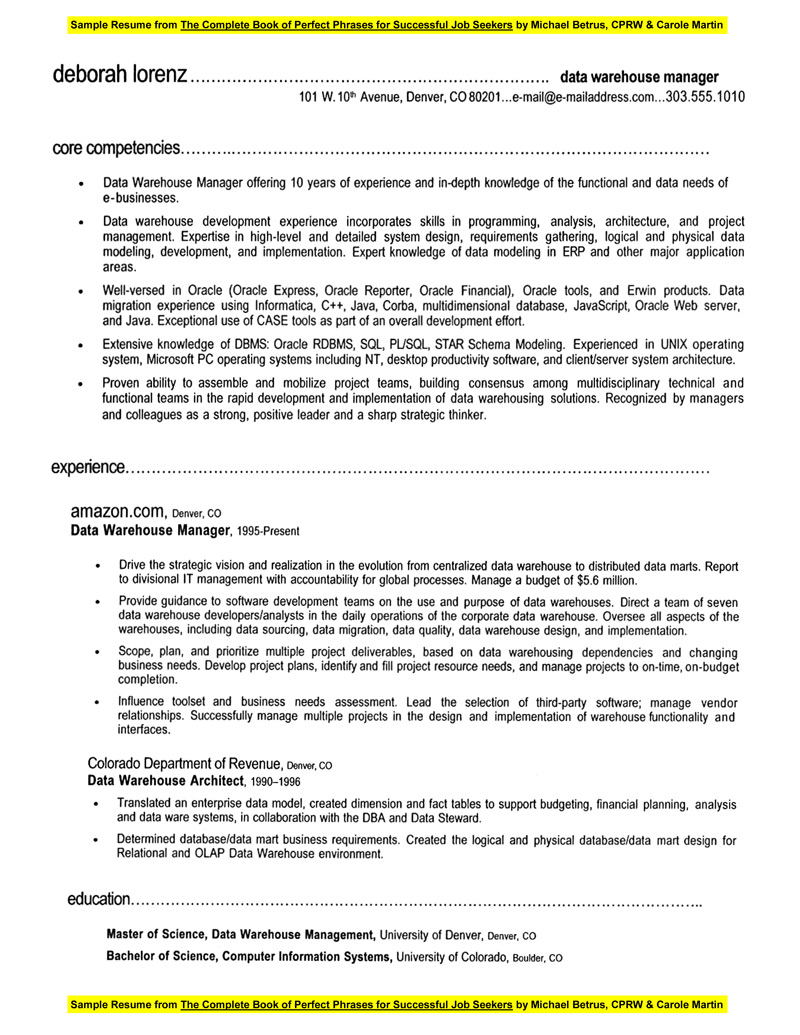 warehousing resume - Warehouse Distribution Resume
