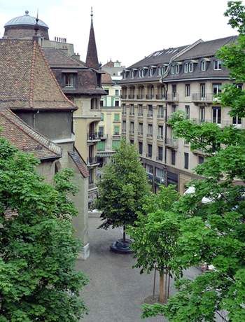A quiet residential neighbourhood in the heart of Genèva