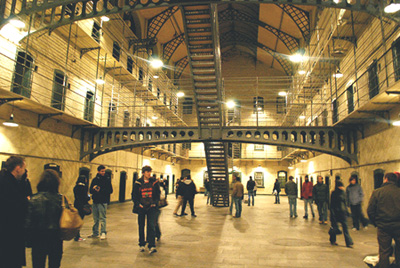 Visitors at the Kilmainham Gaol