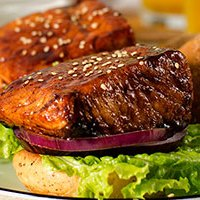 Teriyaki Salmon Sandwich