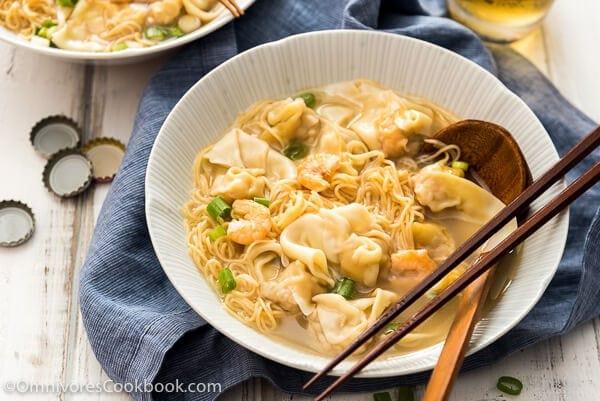 Cantonese Wonton Noodle Soup (港式云吞面)