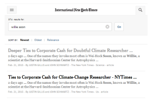 International New York Times search