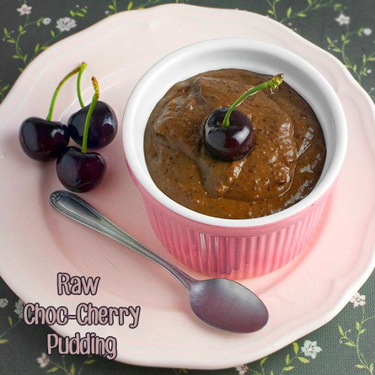 Om Nom Ally - Raw Choc-Cherry Pudding
