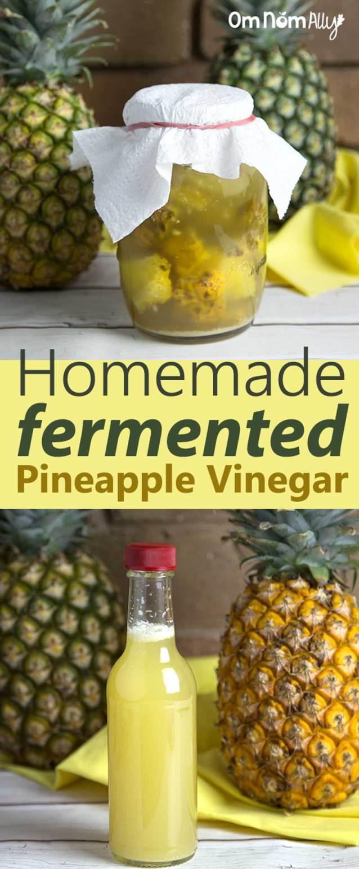 Homemade Fermented Pineapple Vinegar @OmNomAlly