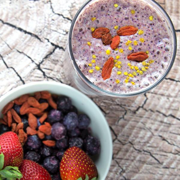 Super Berry Protein Shake | Om Nom Ally