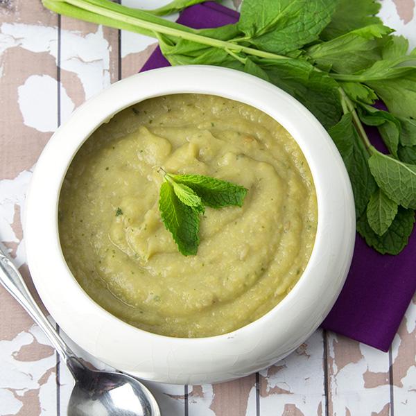 Whole Celery, Potato and Chickpea Soup | Om Nom Ally