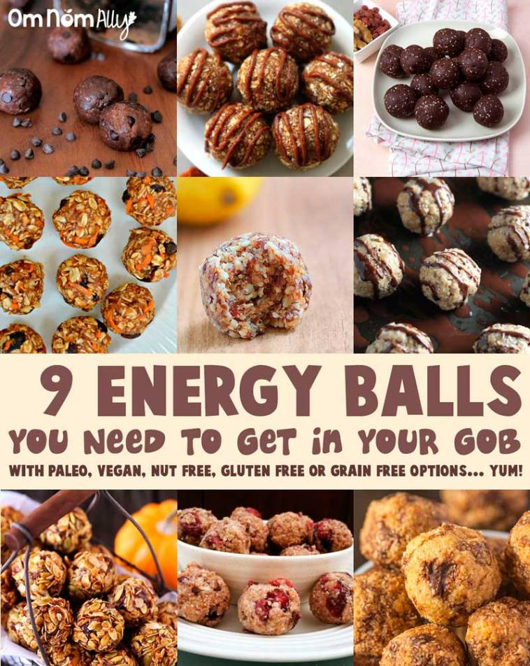 9 Energy Balls To Get In Your Gob @OmNomAlly