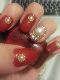 Simple Elegant Pearl Nails   Omona Nails