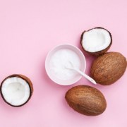 coconuts-fruit-with-coconut-oil-on-pink-pastel-royalty-free-image-1570724298
