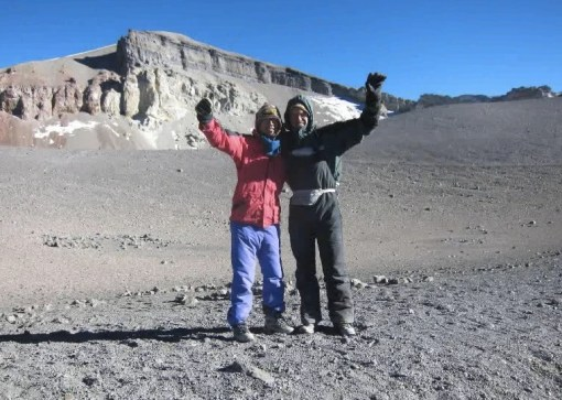 My buddy Chris and I after a massive hike up to the summit of El Misti - 5822m. One of the best life experiences I've ever had