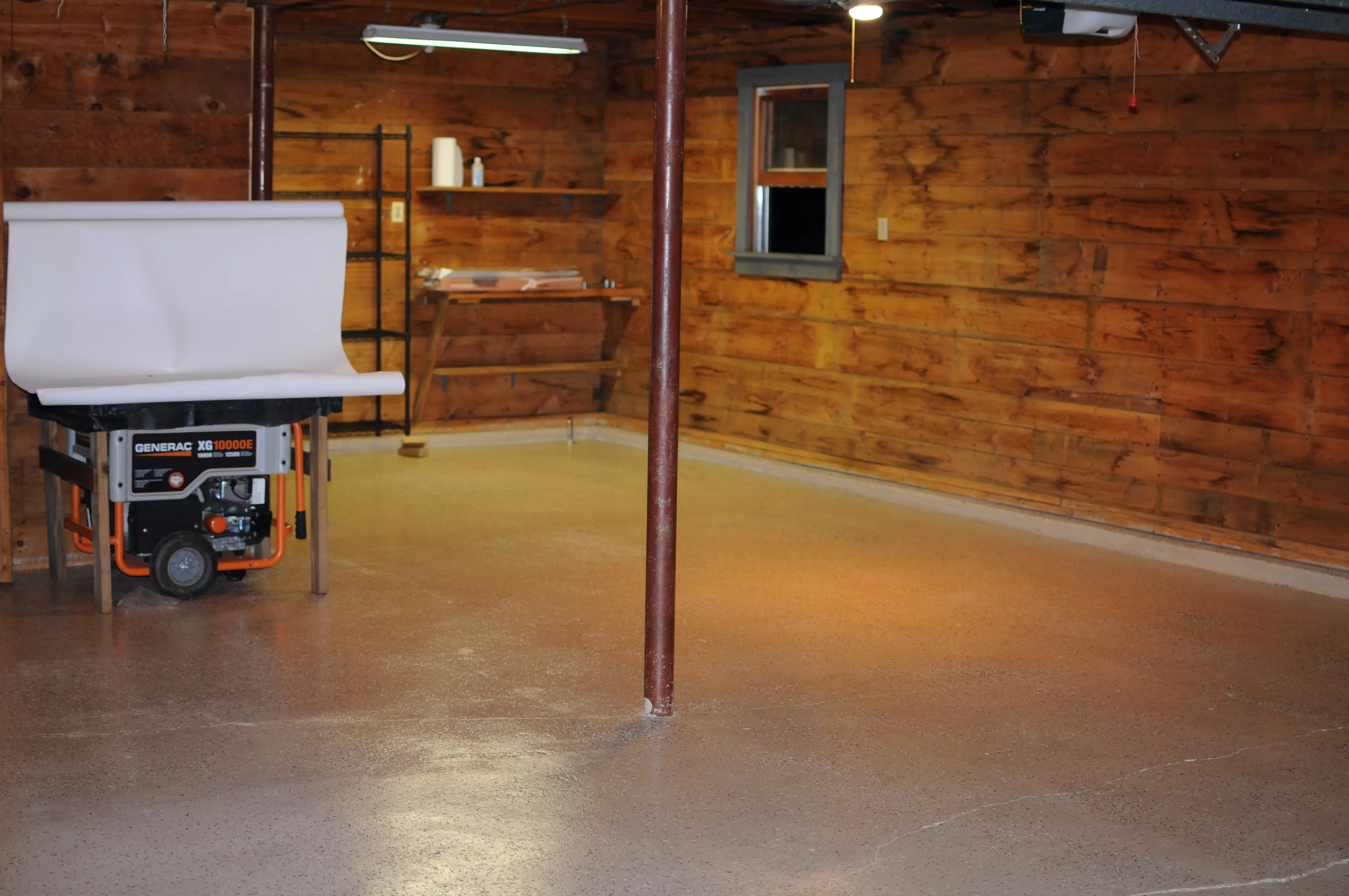 Garage Epoxy Cure Time Paint And Park Bringing A Floor Back From The Dead With Rust