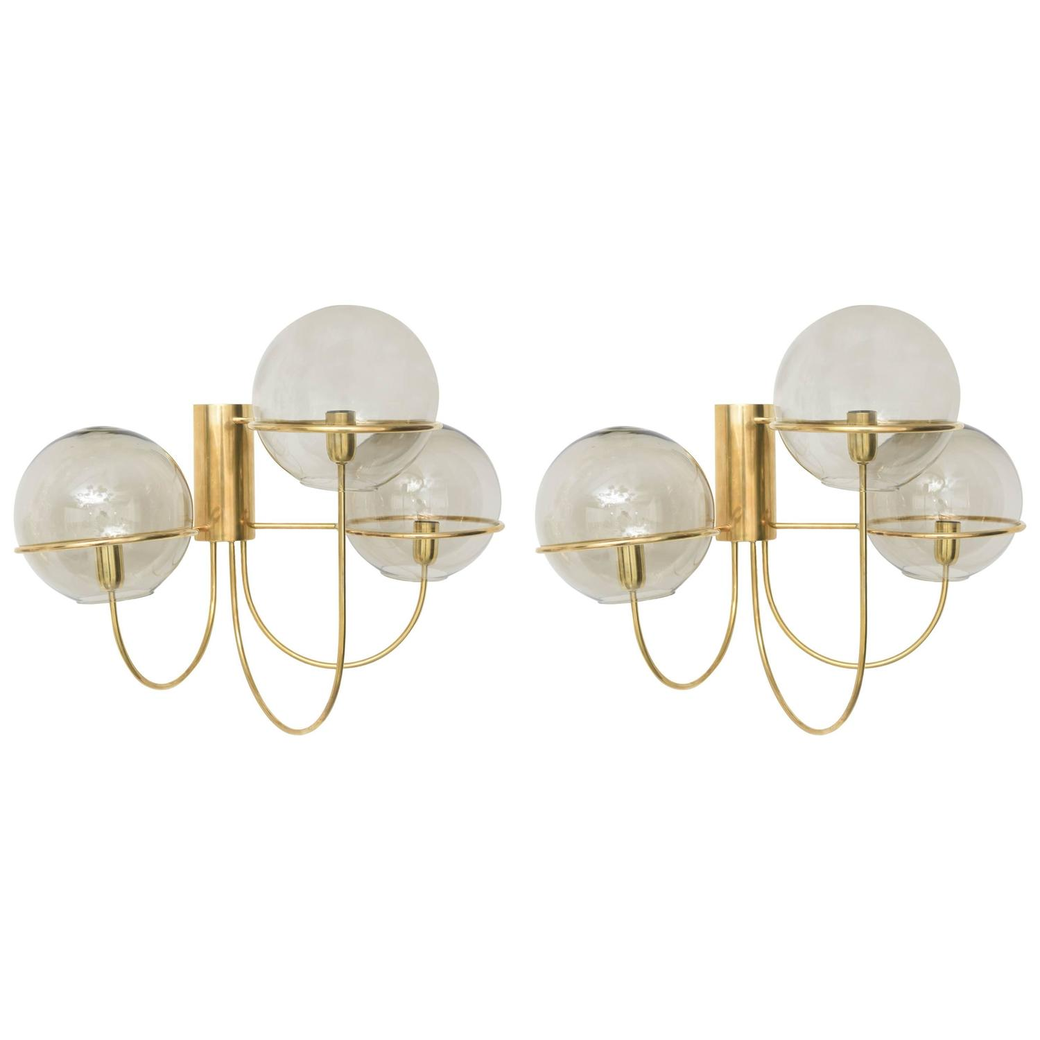 Images Of Wall Sconces Pair Of Mid Century Modern Wall Sconces Star Leuchten