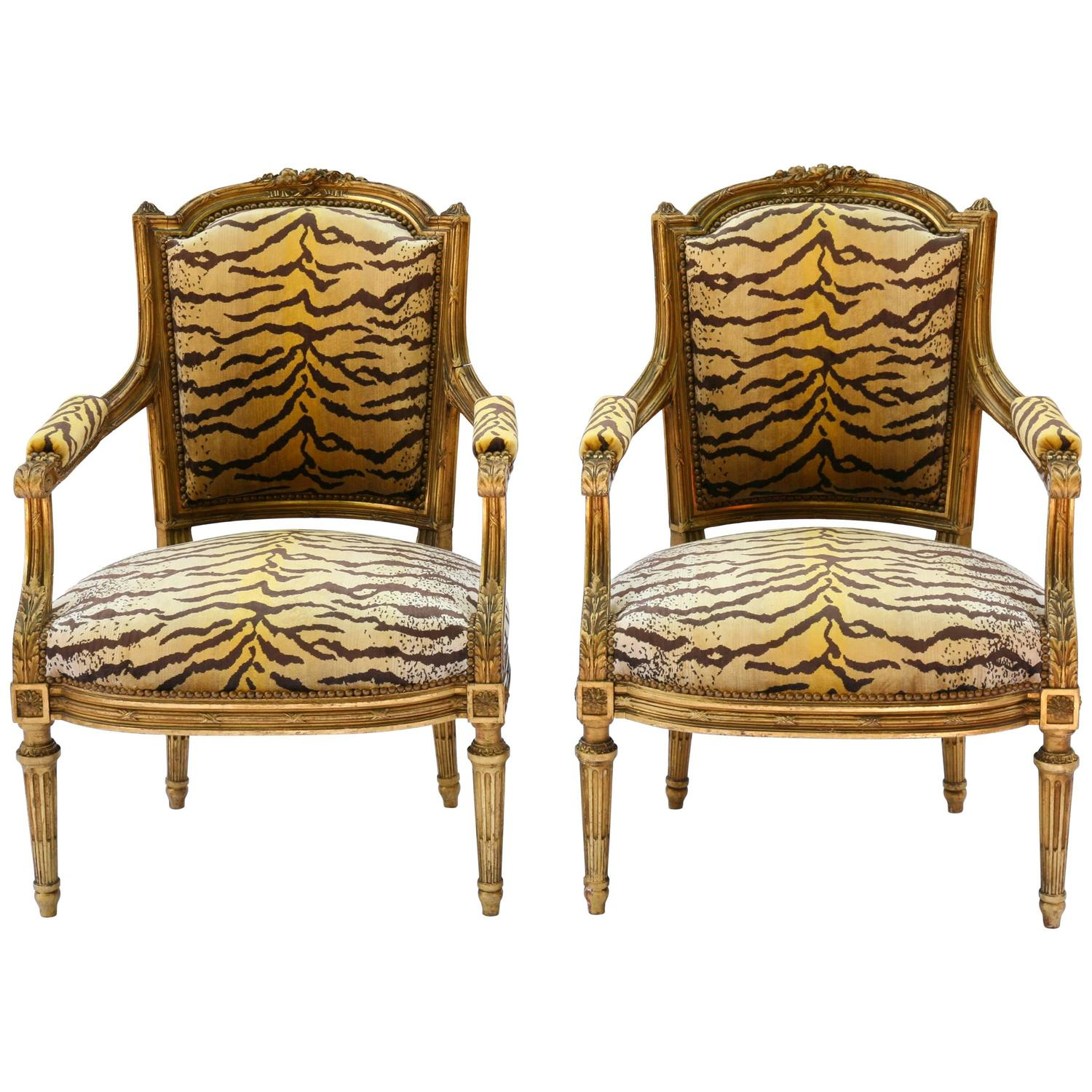 Fauteuils Fils Pair Of Louis Xvi Guidnon And Fils Early 19th Century
