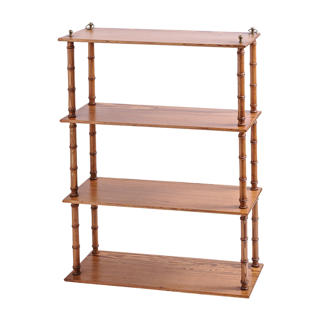 Bambus English Antique English Faux Bamboo Shelf : On Antique Row - West