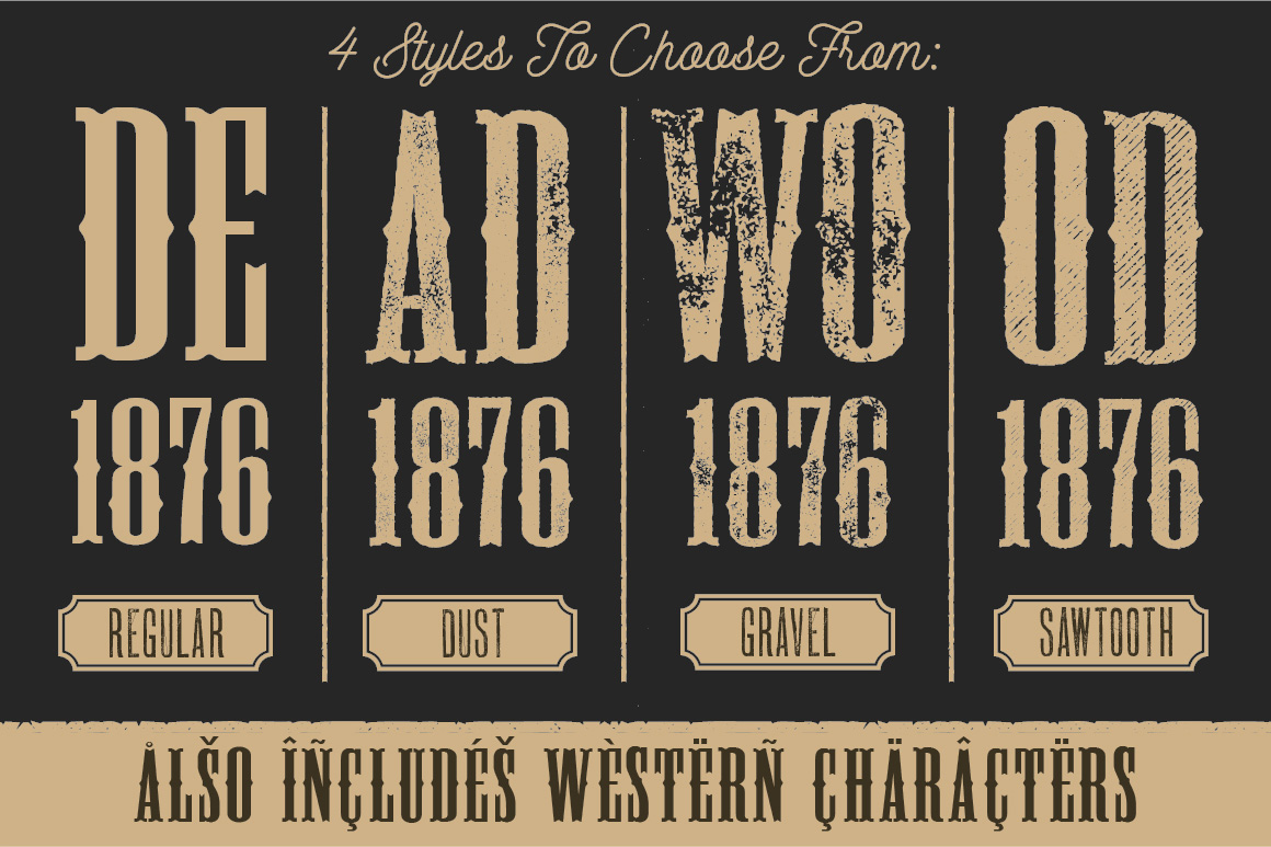 Fullsize Of Old West Fonts