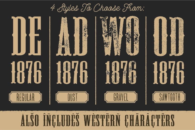 Large Of Old West Fonts